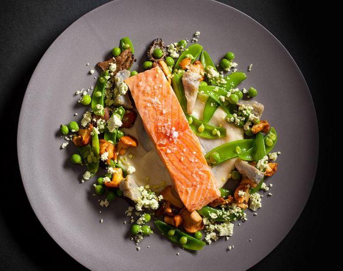 Sesame Crusted Salmon -http://www.jean-georgesrestaurant.com/