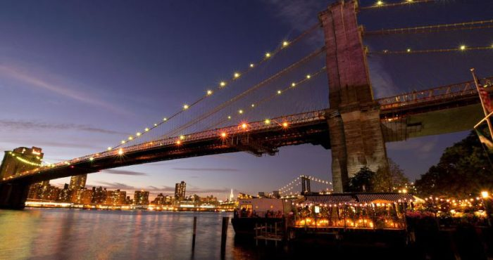 Nestled right under the Brooklyn Bridge - www.rivercafe.com