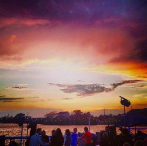 surf lodge sunset