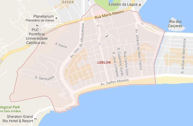leblon map google maps