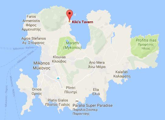 Kikis Mykonos Googlemaps