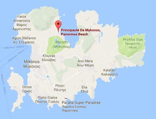 Panormos Mykonos Googlemaps