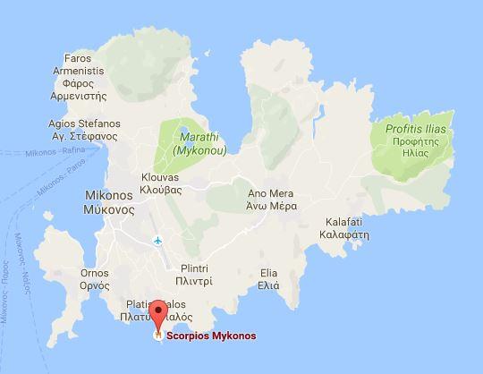 Scorpios Mykonos Googlemaps
