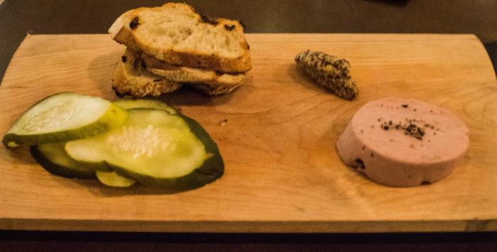Gabriel Kreuther Liverwurst, pickled kirbies, whole grain mustard - $19