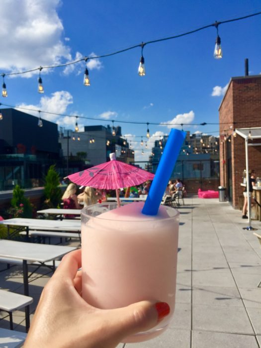 Good story Surf Shack Arlo Soho Rooftop frosé