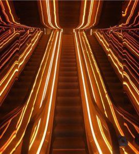 Public Hotel Rooftop escalators